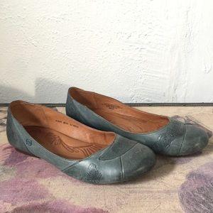 BORN tooled leather ballerina flats 9